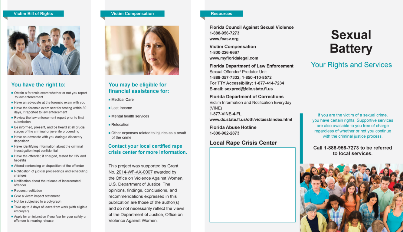 Sexual Battery Brochure Gulf Coast SAP Page 1